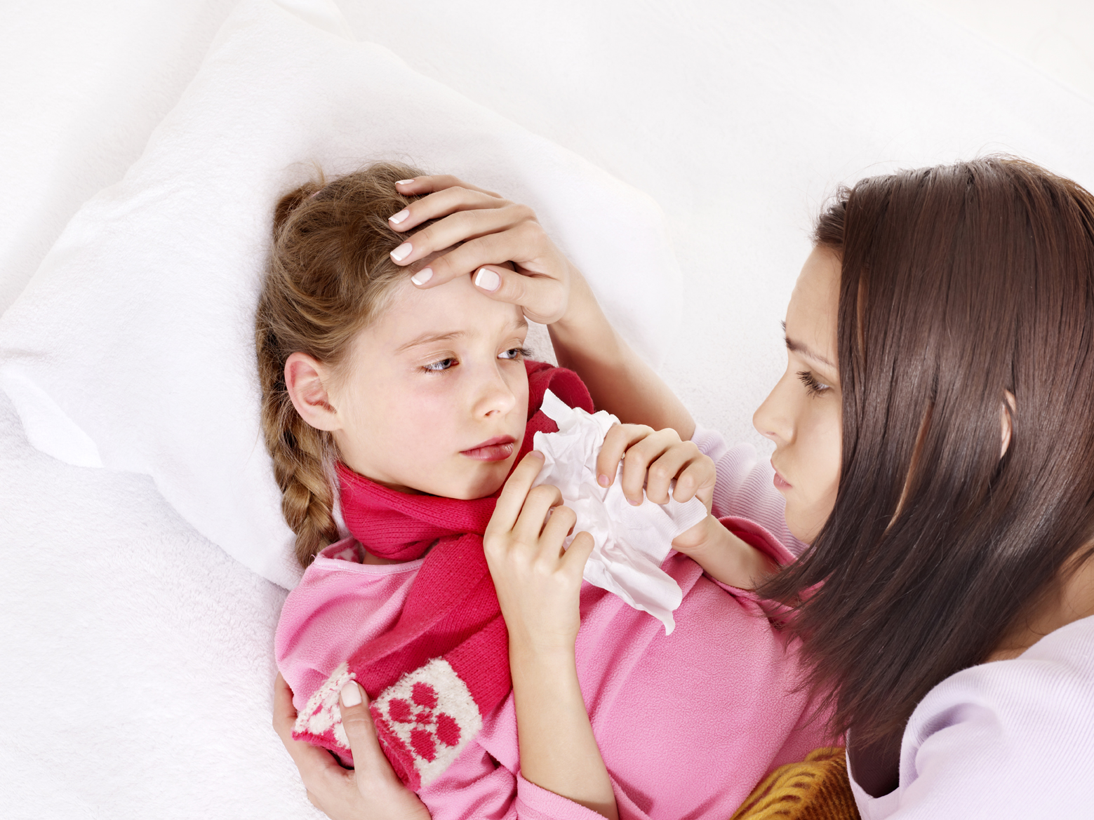 Mom with sick child